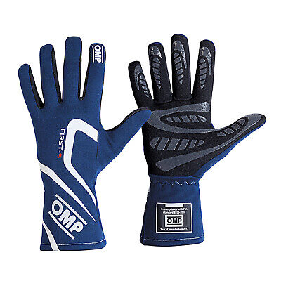OMP First-S FIA Gloves Royal Blue Race / Rally