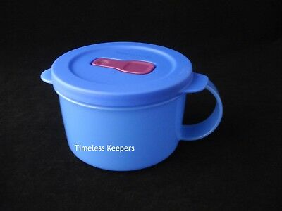 FREE SHIP Tupperware CrystalWave PLUS Soup Mug Microwave 2 Cup Eggs Lunch NEW