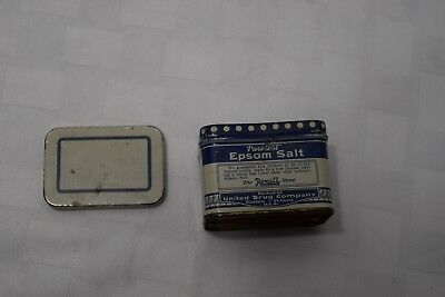 Vintage Puretest Epsom Salt Tin, The Rexall Store, 3 Oz, UC1059, United Drug Co