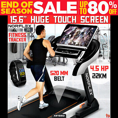 """NORFLEX Electric Treadmill 15.6"""" Touch Screen Incline Machine Fitness Equipment"""