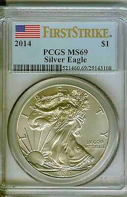 2014 American Silver Eagle - PCGS MS69 First Strike #3108