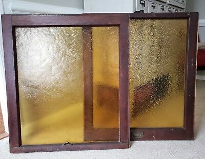 Vintage Antique Window Single Pane Sash Textured GLASS Architectural Salvage Set