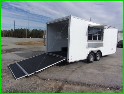 8.5X20 CONCESSION cargo enclosed with ramp door BBQ vending TRALER w sinks New