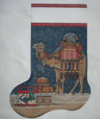 Melissa Shirley Nativity Camel Needlepoint Canvas Christmas Stocking Large