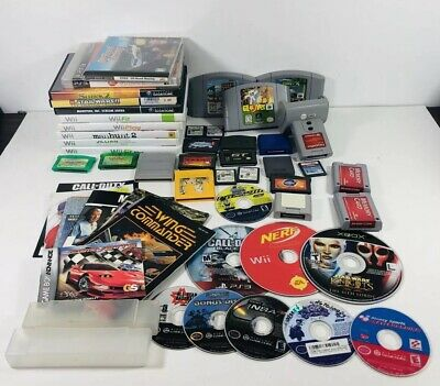 Huge Lot of Mixed Wii, Xbox, , Sega, Gamecube, Ps3, DS, GB Games Sold AS IS