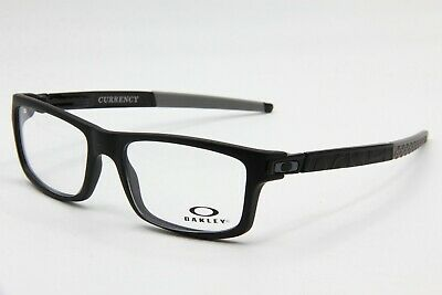 893b29e83d New Oakley Ox8026-1354 Satin Black Currency Authentic Eyeglasses Frame Rx 54 -17