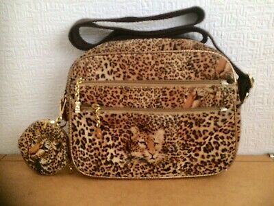b950627d6c9c Butler And Wilson Leopard Print Cross Body Bag With Matching Coin Purse.  Used