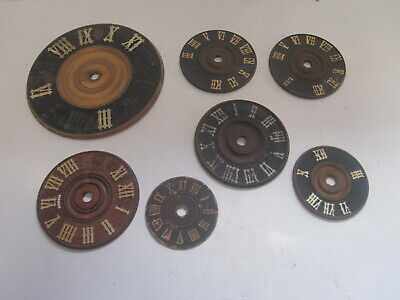 7 Antique Wood Black Forest Cuckoo Clock Roman Numeral Clock Faces