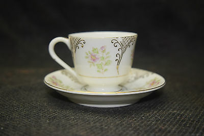 Demitasse Cup - Made in Occupied Japan - Bone China with Gold Trim