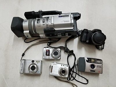Lot of Cameras - 5 Cameras & 1 Digital Handicam, Untested