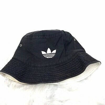 4b055623478 Vintage Adidas Unisex Adult L XL Faded Black White Bucket Hat