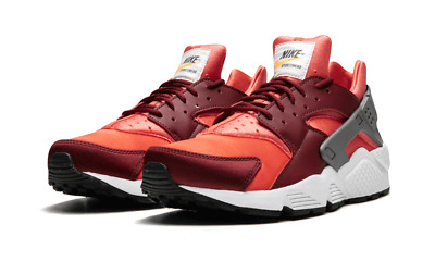 38befa25683d6 NIKE AIR HUARACHE Mens 318429-054 Gunsmoke Team Red-Rush Coral sz 10 ...