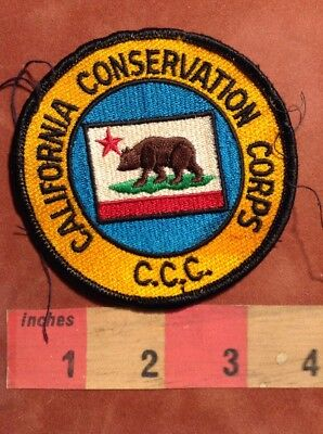 CCC California Conservation Corps Patch - Brown Bear Grizzly Bear 89NB