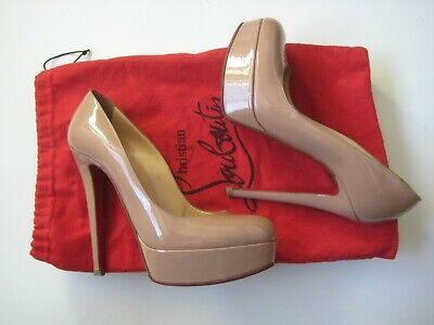 ee6d68a8a8a2 Authentic Christian Louboutin Nude Platform Heels Pumps Shoes Size 37.5 US  7.5