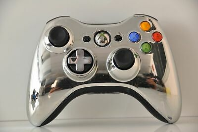 Official Microsoft xbox 360 Wireless Controller Chrome Silver Edition