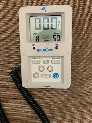MaxTec MaxO2me Oxygen Monitor Analyzer with cable