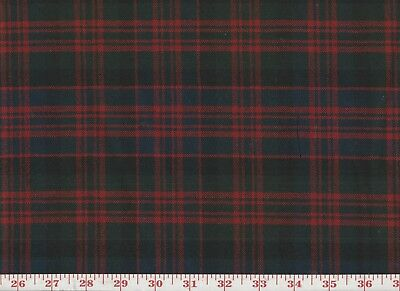100% Wool Plaid Overstock Upholstery Fabric by Roth & Tompkins Tartan Plaid Red