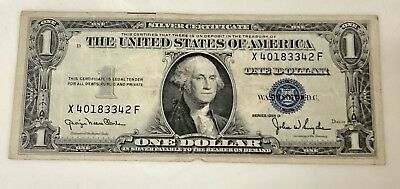 $1 Dollar 1935-D One Dollar Bill Blue Seal Silver Certificate