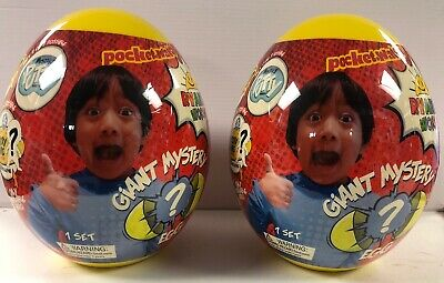 2! Ryan's World Yellow Giant Mystery Egg Toys Ultra Rare Hot Surprise Youtube
