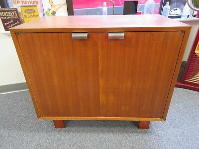Mid-Century Modern George Nelson Herman Miller 2 DOOR Media Storage TV CABINET