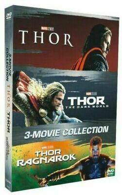 THOR 3-Movie Collection (DVD Box Set 2018) Complete Trilogy 1 2 3 Free shipping