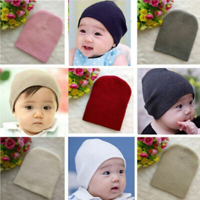 575dccb44 STYLISH COTTON BEANIE Hat For New Born Baby Boy Girls Kids Children ...