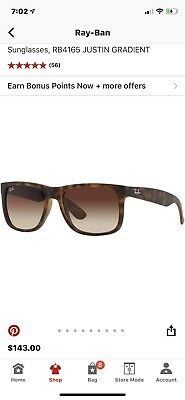 1ebdca4a9b Ray-Ban Justin Rb4165 865 t5 54 Tortoise Frame With Brown Polarized  Sunglasses