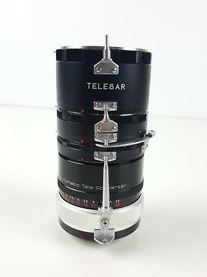 Vintage Telesar Automatic Extension Tube Set For Minolta Vivitar Lens Japan