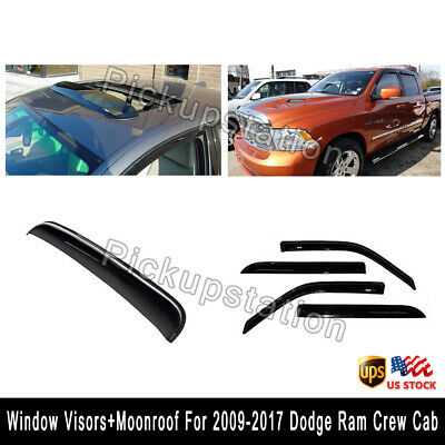 Vent Shade Outside Mount Window Visor Sunroof Type2 5pcs Dodge Ram 3500 09-16