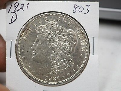1921 D $1 Morgan Silver Dollar  # 803
