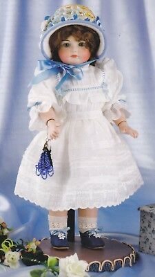 11 inch doll Reproduction sewing pattern - Lacy dress, petticoat, drawers