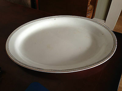 Vintage Collector Homer Laughlin Empress Platter White with Gold trim