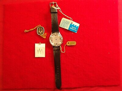 BULOVA ACCUTRON NOS Watch Case, Dial, Crystal, Hands, Crown, Strap & Buckle