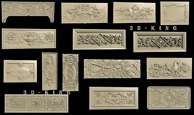 3D STL Model # DOORS & CABINETS № 4 # 15 PCS for CNC Aspire Artcam 3D Printer