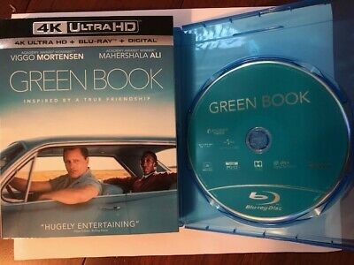 Green Book (Blu-ray Disc ONLY) w/ SLIPCOVER + BLANK CASE! NEVER VIEWED! SEE INFO
