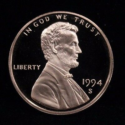 1994 S Uncirculated Mint Proof Lincoln Cent 1c Coin DCAM