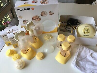 Medela Swing Maxi Double Electric Breast Pump With Extras - RRP New $500+!