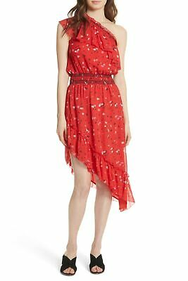 c6759d486be96 Joie NEW Red Womens Size Large L Floral One-Shoulder Silk A-Line Dress