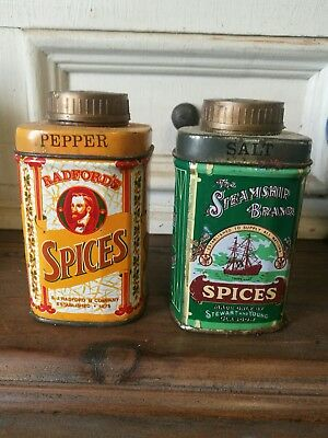 Vintage Tin Salt And Pepper Shakers. Tin Shakers
