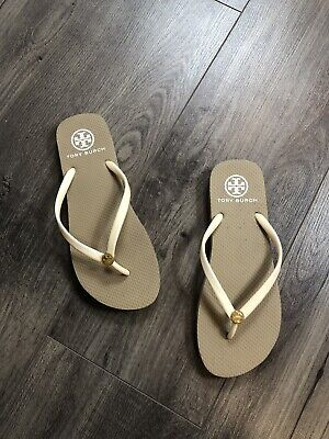 b6f79ee0bec3ff TORY BURCH SOLID Thin Flip-Flop Sandals Sand Color 🔥 -  35.00 ...
