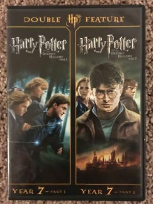 Harry Potter Double Feature: The Deathly Hallows (DVD, 2012, 2-Disc Set)