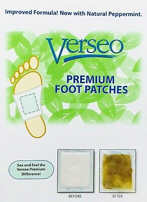 Verseo Detox Foot Pads Patch Detoxify Toxins Adhesive All Natural 30 COUNT NIP
