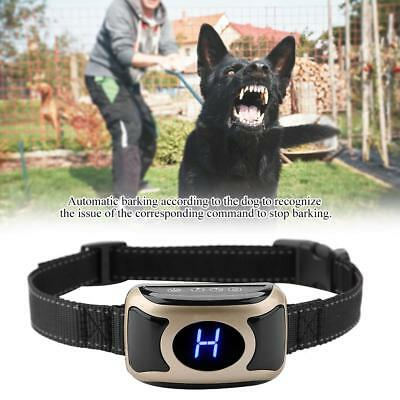 Rechargeable Accessory Dog Anti Bark Pet Collar LCD Display Shock Vibration BH