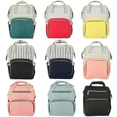 Waterproof Mummy Backpack Baby Diaper Nappy Bottle Large Storage Changing Bag BH