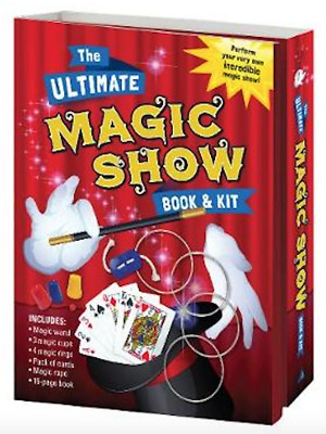 NEW Ultimate Magic Show Book & Kit Wand Magician Magical Tricks Kids Gift Set!
