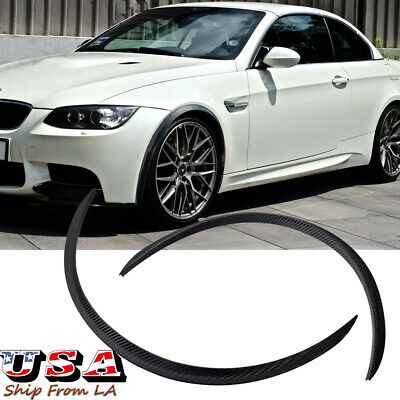 2pcs Wheel Eyebrow Arch Lips Fender Carbon Fiber Protector Strips Trim for BMW