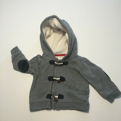 Kids Baby Coat Gray Toddler Horn Button Hooded Jacket 24 Months Velcro Fastening
