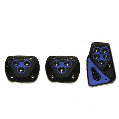 3x Universal Non Slip Sport Pad Blue Pedal Foot Covers For MG TF ZR ZS ZT MGF TF