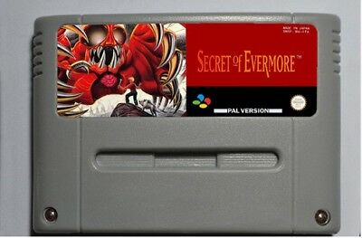 Secret of Evermore ( SNES ,1995) PAL EUR version ENGLISH FREE SHIPPING WORLDWIDE
