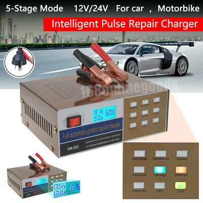 Electric Car Auto Battery Charger 24V /12V 10A Boat Caravan Motorcycle 20 Amp AU